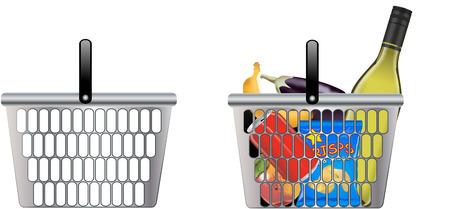 cleaning debt: SHOPPING BASKET Illustration