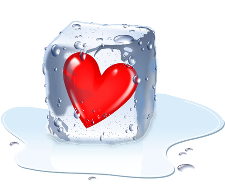 COOL HEART IN ICE CUBE