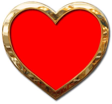 GOLD FRAMED HEART Vector