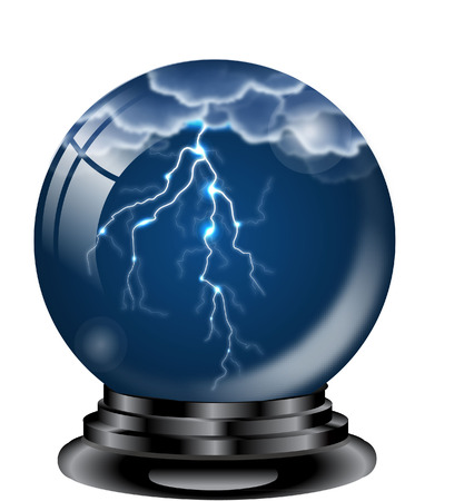 WEATHER GLOBE WITH LIGHTNING Vector
