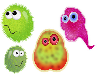 細菌  イラスト・ベクター素材