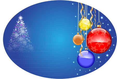 CHRISTMAS OVAL DESIGN Vector