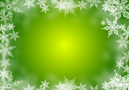 SNOWFLAKE BACKGROUND Vettoriali