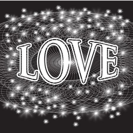 LOVE BLACK AND WHITE DESIGN Vector