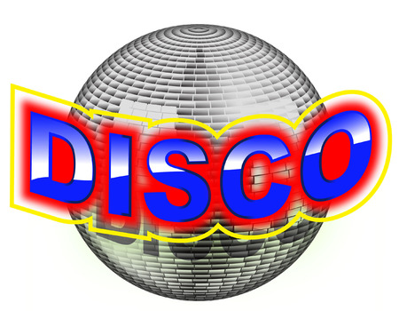 disco glitter ball Vector