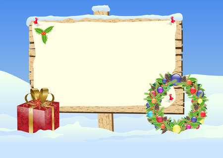 christmas sign Vector