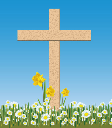 free images stock: easter cross Illustration