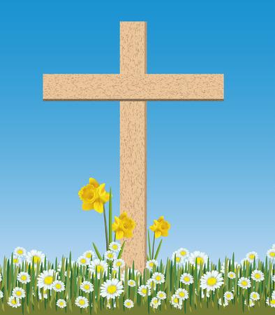 biblical: easter cross Illustration