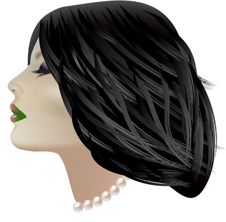 beautiful face with pearls Vector