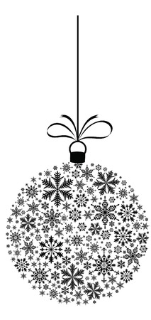 christmas baubles of modern design: snowflake christmas bauble Illustration