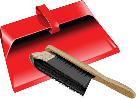 dustpan: DUSTPAN AND BRUSH