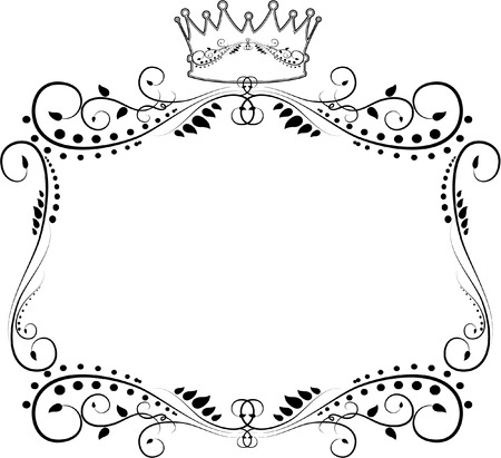 ORNATE FRAME WITH CROWN Vector