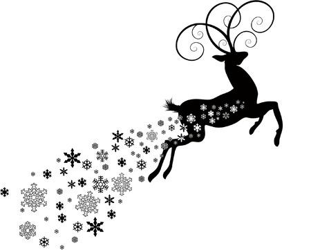 bucks: DEER WITH SNOWFLAKES