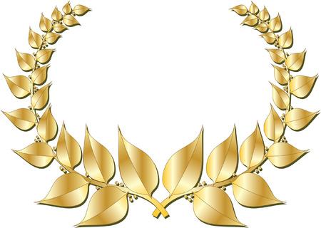 WREATH GOLD Vector