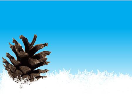 CONE ON SNOW Vector