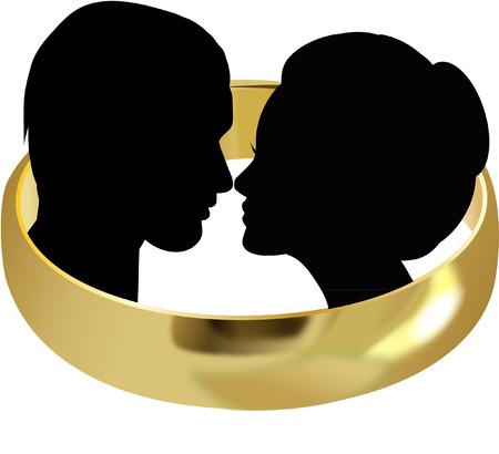 WEDDING COUPLE Vettoriali