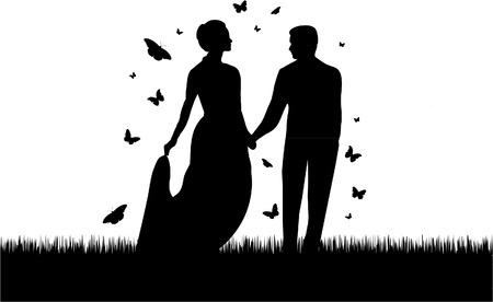 로맨틱 커플 일러스트