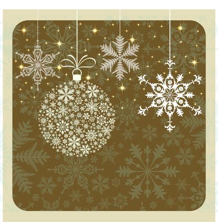 RETRO CHRISTMAS CARD Stock Vector - 30645845
