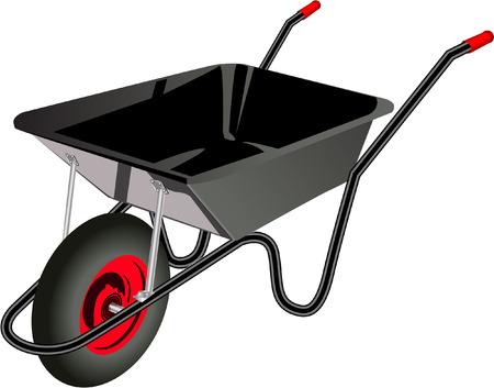 wheel barrow: WHEEL BARROW Illustration