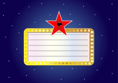 cinema sign concept Vector