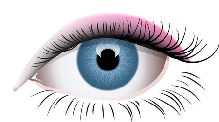 woman eyeball: EYE
