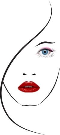 illustrazione moda: BELLA RAGAZZA VISO