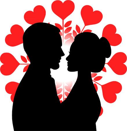 wedding couple: WEDDING COUPLE Illustration