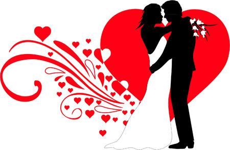 Parbröllop Illustration