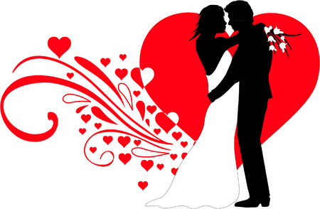 wedding couple illustration - Dessin Mariage