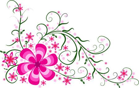Pink floral hoek ontwerp