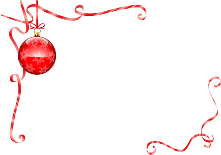 christmas ball isolated: CHRISTMAS DECORATION Illustration