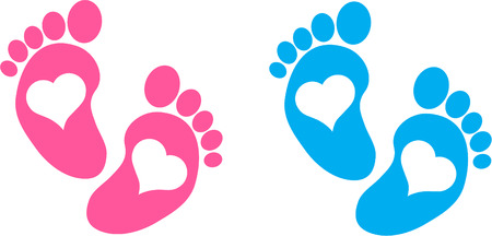eps picture: BABY FEET Illustration