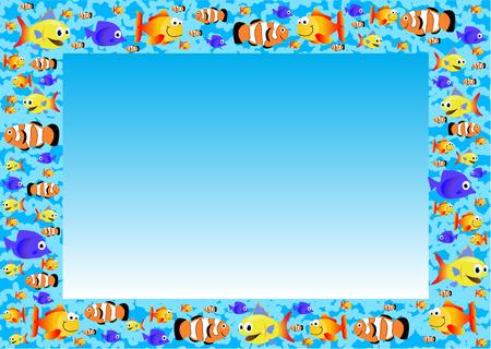 FISH FRAME Vector