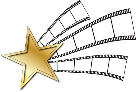 STAR AND FILM STRIP Vector