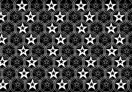 BLACK AND WHITE STAR BACKGROUND Vector