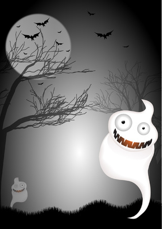 GHOST BACKGROUND Vector