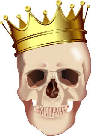 skull and crown: SKULL WITH CROWN