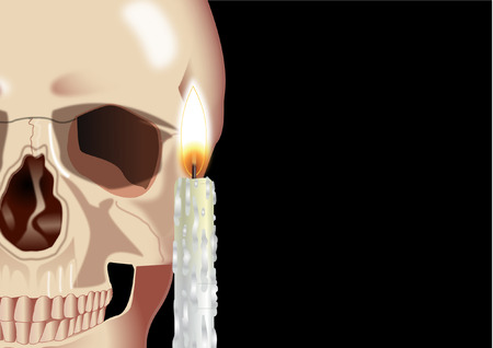 fall images: SKULL WITH CANDLE