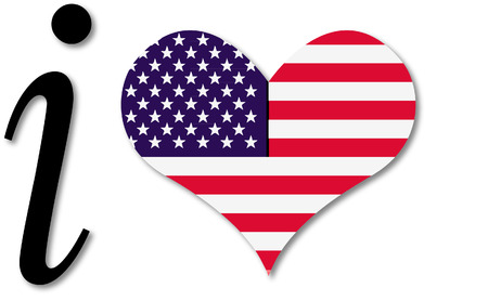 I HEART THE USA Vector