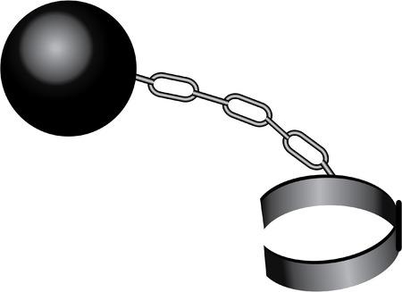 ball chain: BALL AND CHAIN Illustration