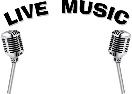 rubber band: LIVE MUSIC MICROPHONE Illustration