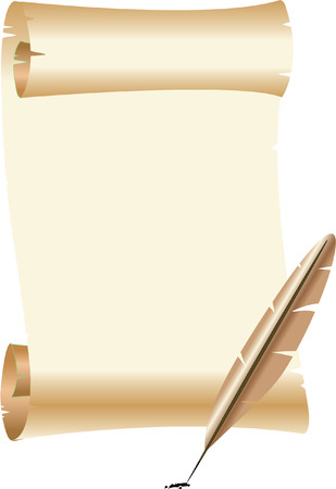 SCROLL AND QUILL Vector