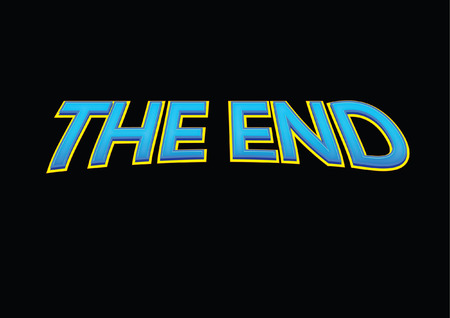vector raster background: THE END
