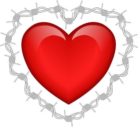 disharmony: heart and barbed wire