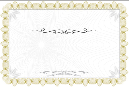 guilloche: Blank guilloche style certificate with decorative border