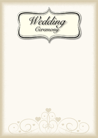 Vintage frame Wedding Ceremony Vector