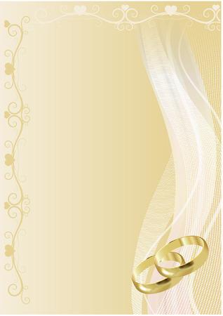 anillo de boda: ANTECEDENTES DE LA BODA Vectores