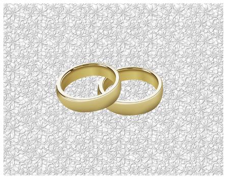 wedding rings Vectores