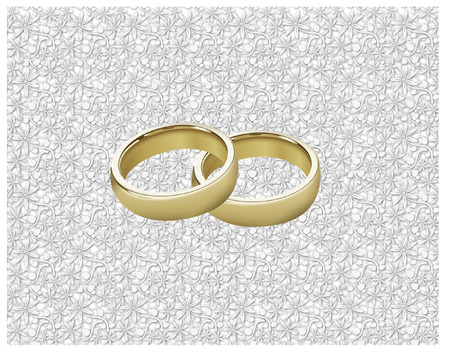 romantic picture: wedding rings Illustration