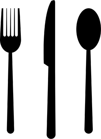 knife and fork: knife fork spoon